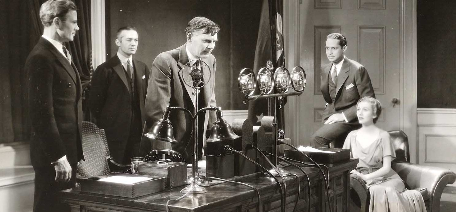 Walter Huston as the president in  Gabriel Over the White House  (1933).