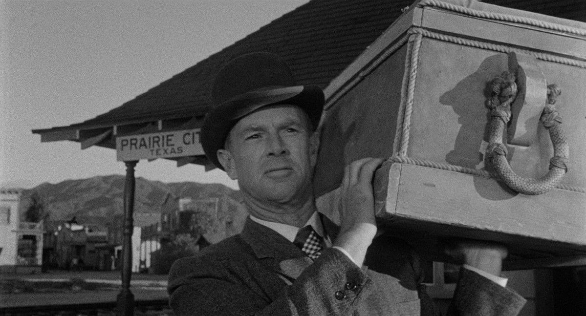 Swedish seaman George Hansen (Sterling Hayden) arrives in Prairie City only to discover that his father has been killed.