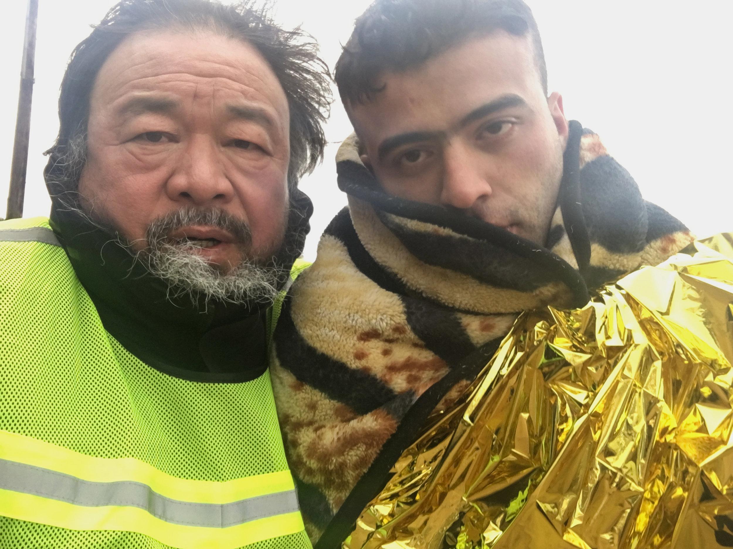 Director Ai Weiwei in  Human Flow.