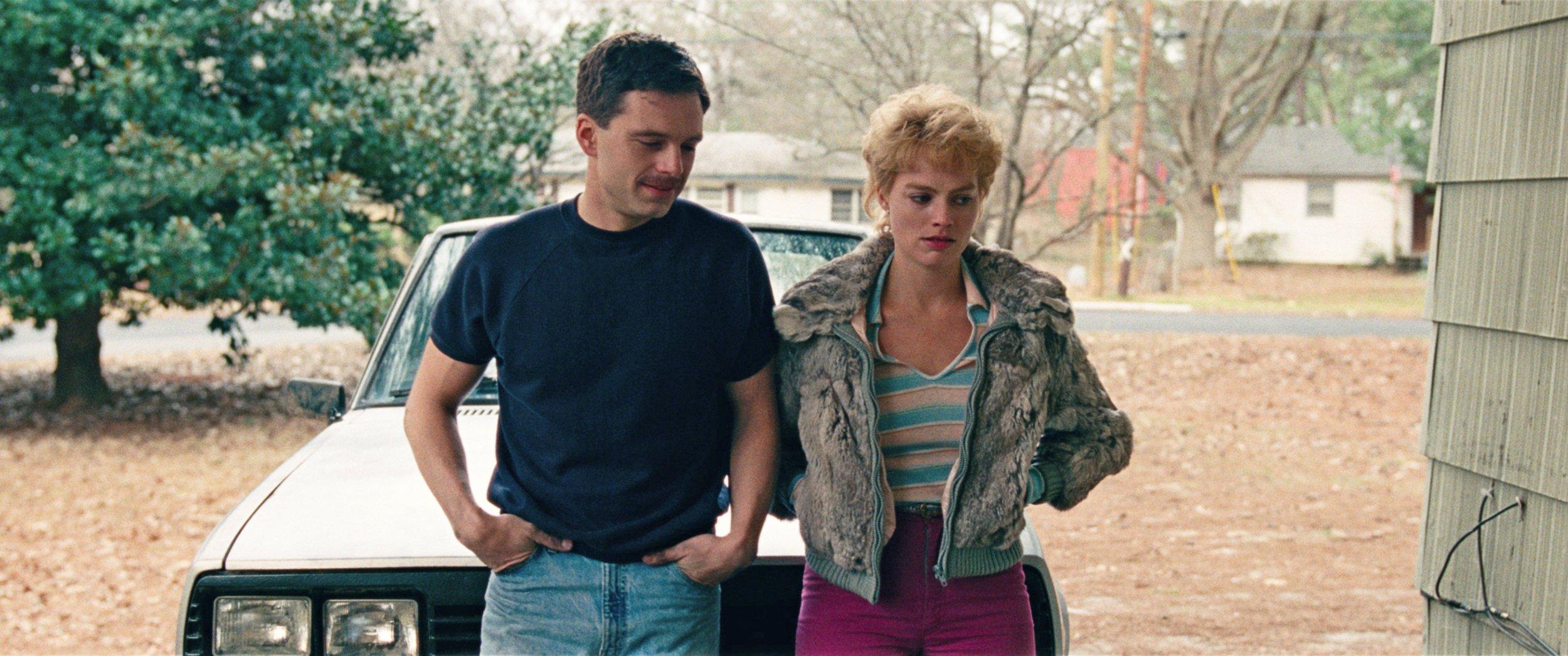 Sebastian Stan as Jeff Gillooly and Margot Robbie as Tonya Harding.