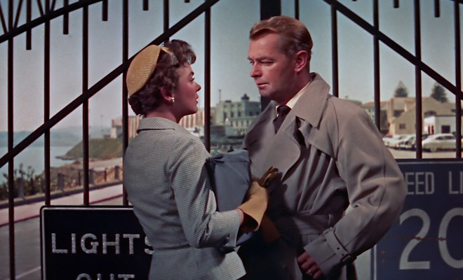Rollins may be released from San Quentin, but he is still imprisoned in an ambivalent relationship with the wife he thinks betrayed him (Joanne Dru).
