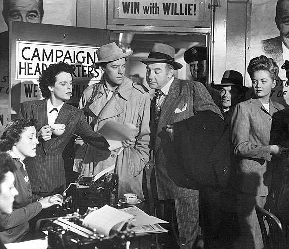 The second Stark campaign, with Burden now part of the campaign team. Key staffer Sadie Burke (Mercedes McCambridge) with the cup.