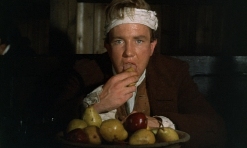 In perhaps the film's most infamous scene, Tom (Albert Finney) dines on a feast as foreplay.