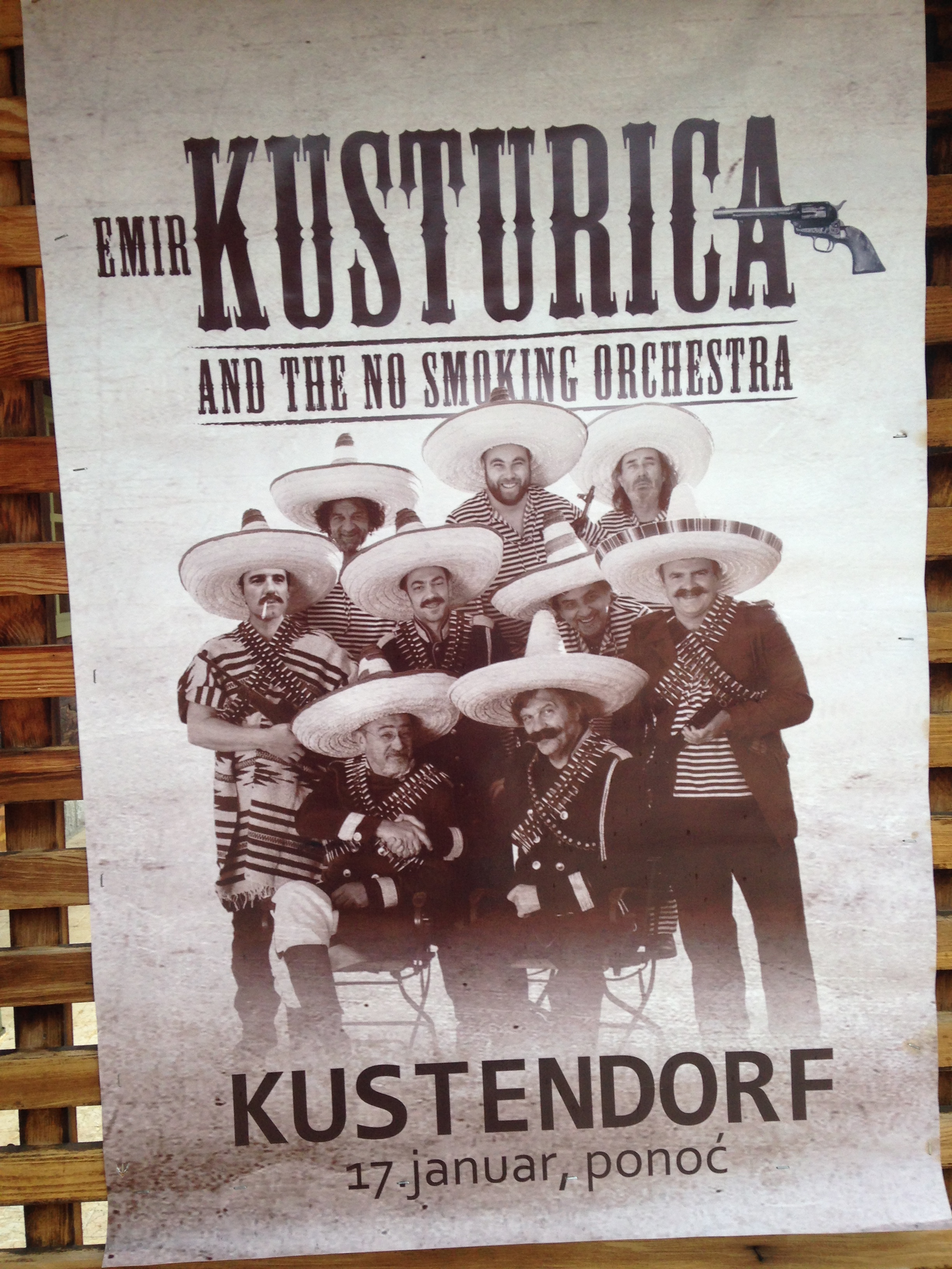 Poster for Kusturica's band  The No Smoking Orchestra.