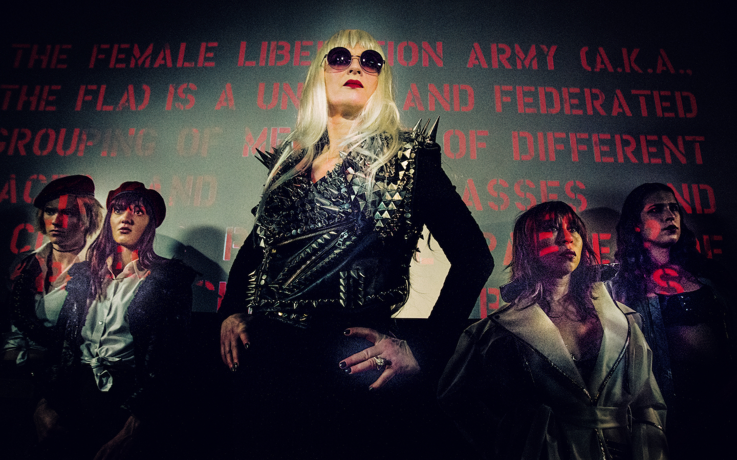 Big Mother (Susanne Sachsse) looks forward to a radiant future in  The Misandrists.