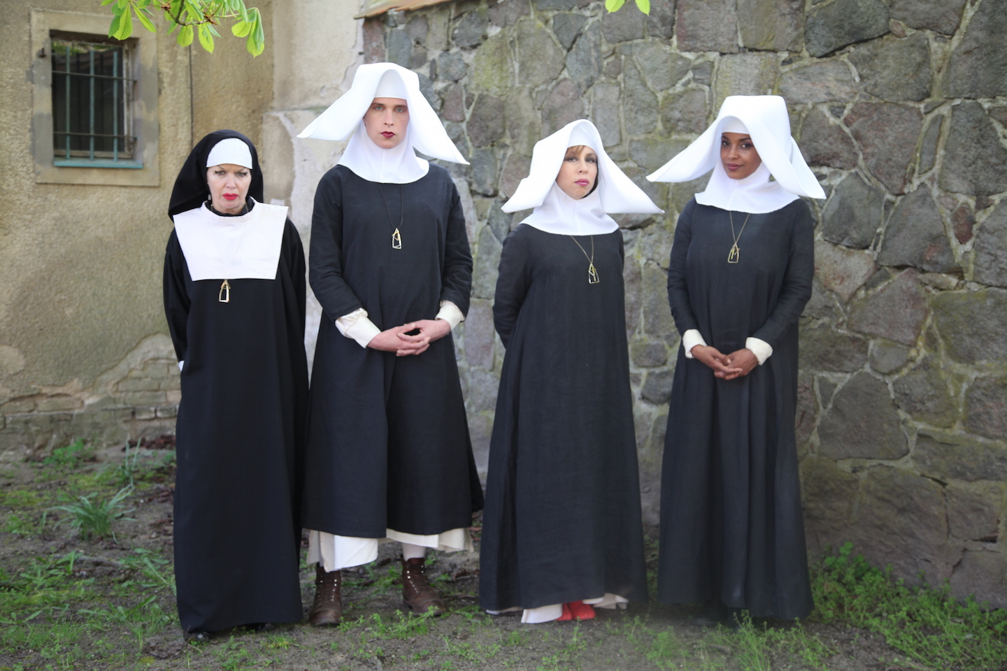 Radical lesbian separatists, disguised as nuns, run a revolutionary cell in  The Misandrists