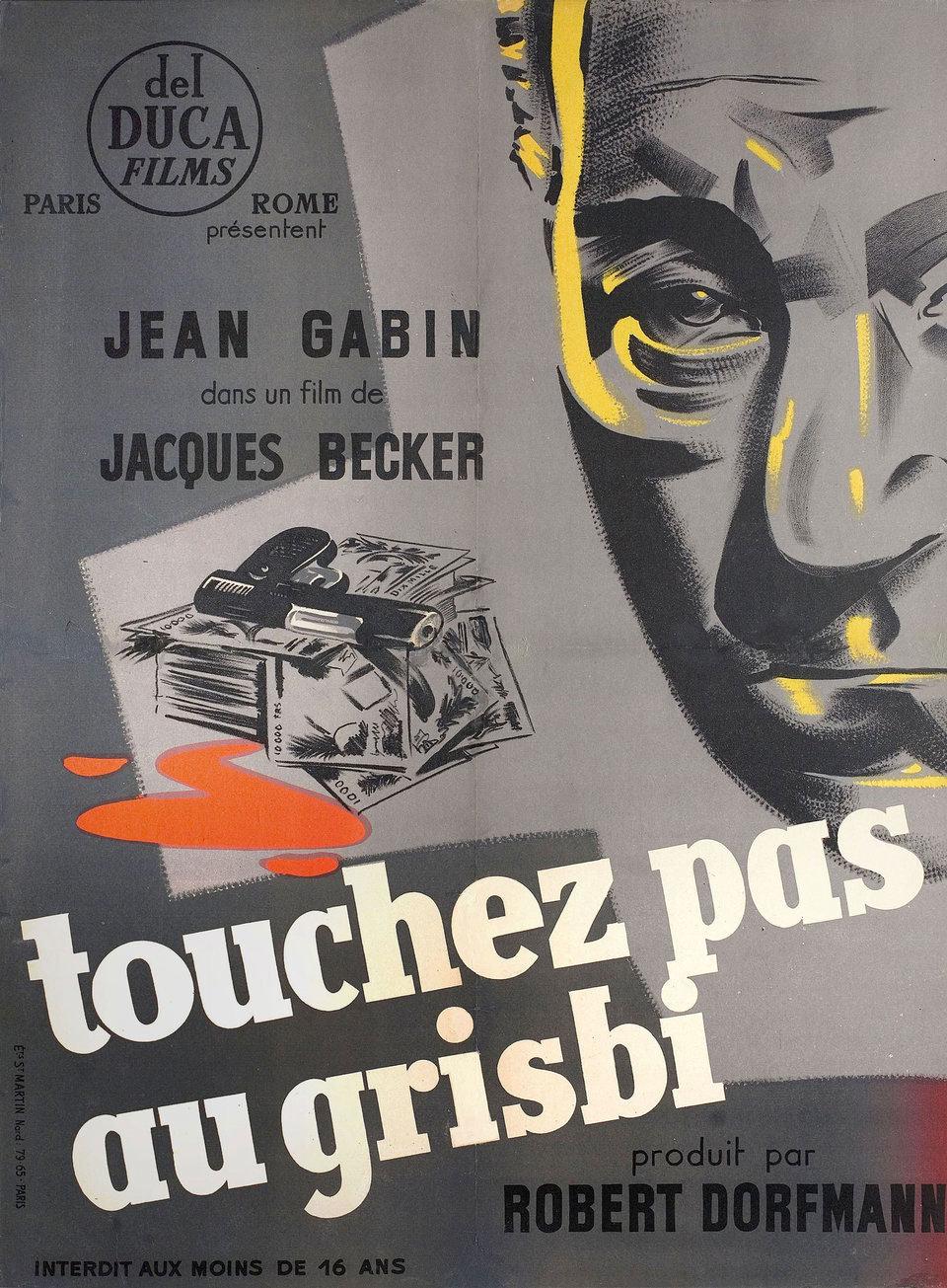 Original poster of  Touchez Pas au Grisbi  (1954).