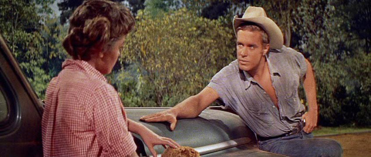 George Peppard as Rafe with Libby Halstead (Luana Patten).
