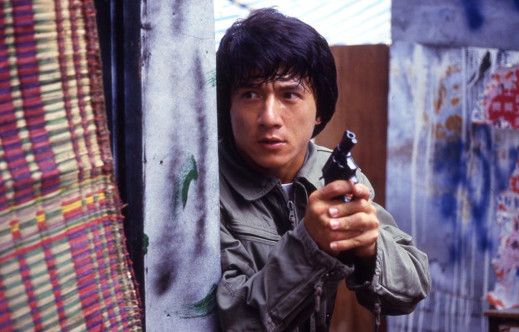 Jackie Chan as Inspector Chan Ka-kui in  Police Story.