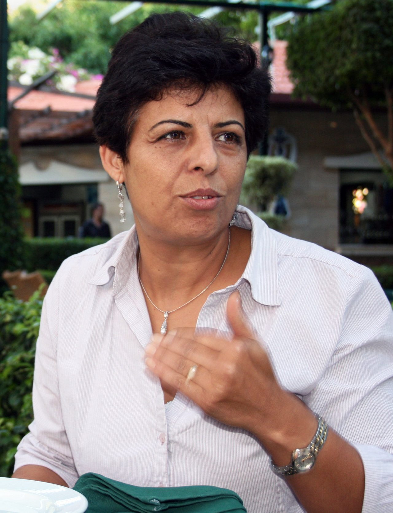 Activist Naila Ayesh, the central figure in  Naila and the Uprising.