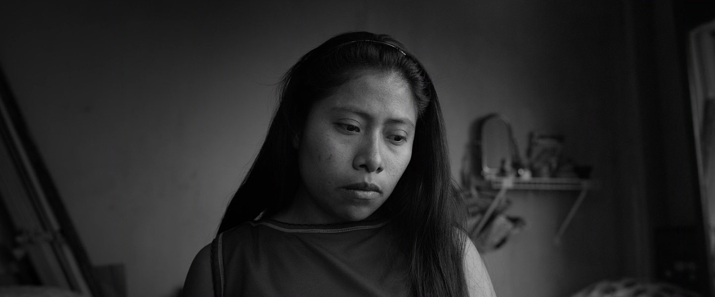 The Mixtec non-actor Yalitza Aparicio as Cleo in  Roma.