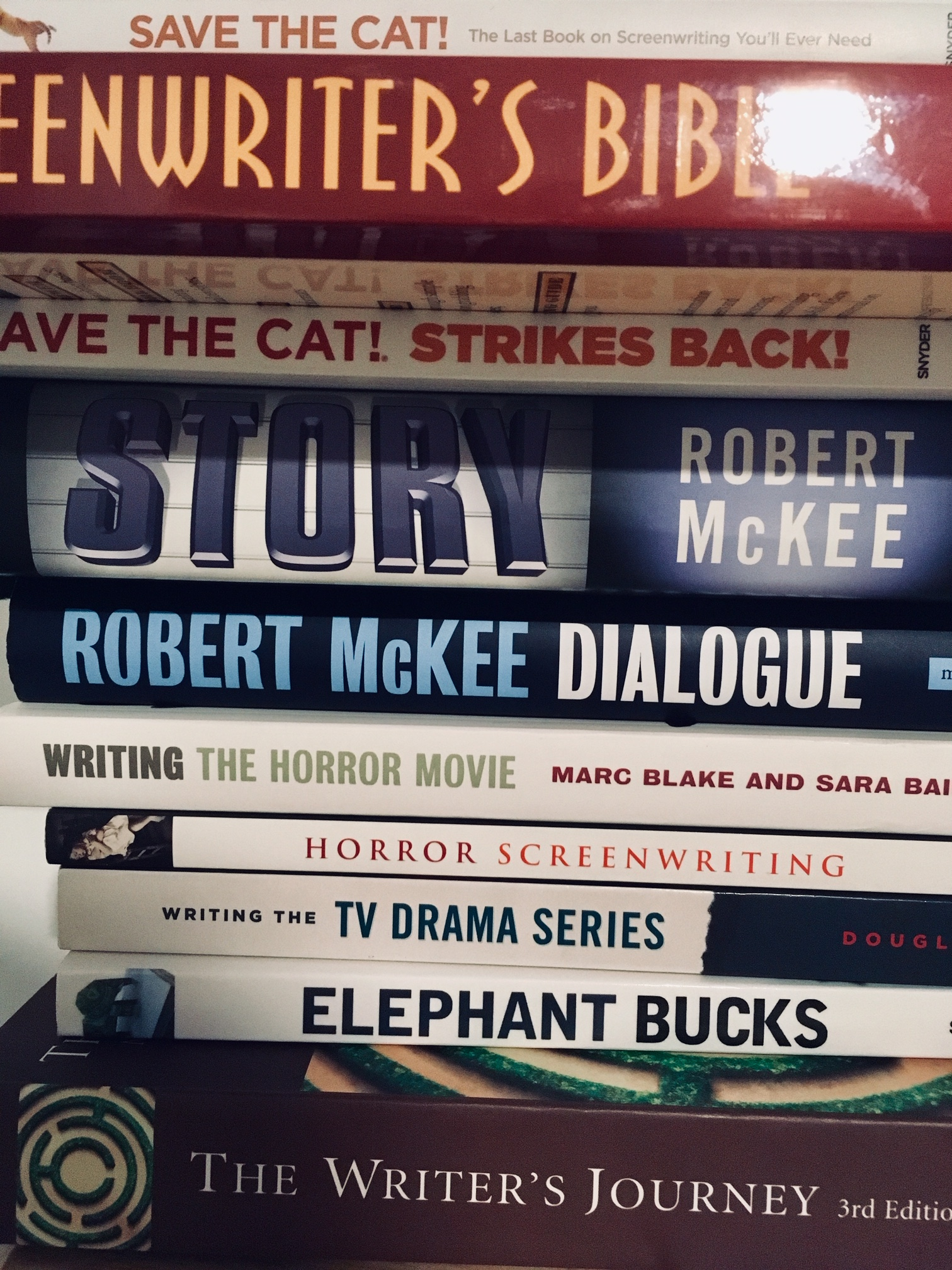 Save the Cat!  and other screenwriting books.