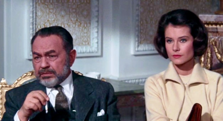 Stratman and his niece, Emily (Diane Baker), who appears to be a Stasi plant.