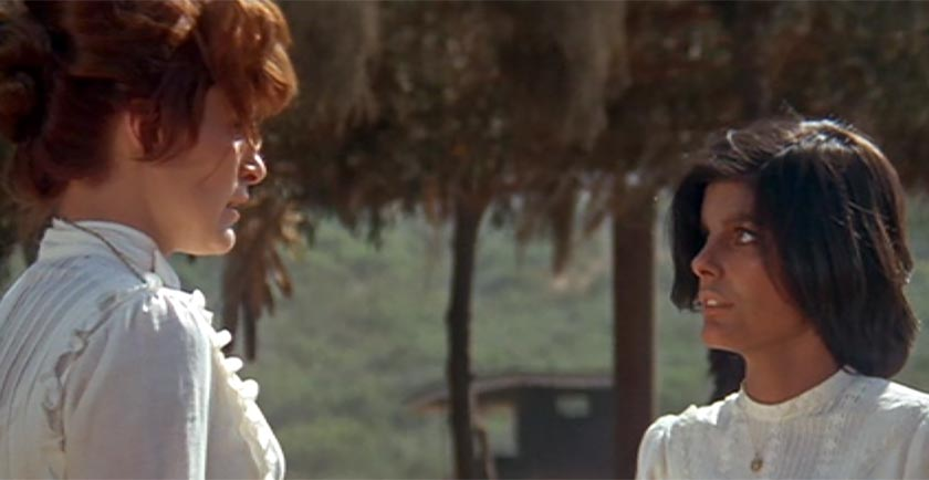 Susan Clark as Dr. Elizabeth Arnold, the superintendent of the reservation, and Katharine Ross as Lola.