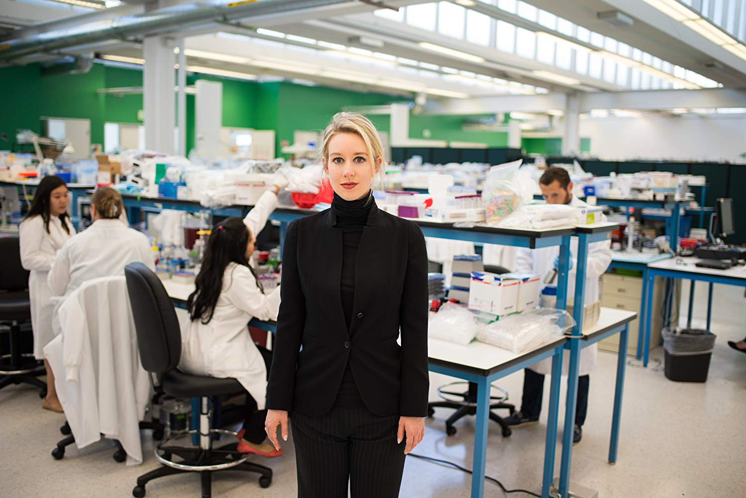 Theranos CEO, Elizabeth Holmes, in Theranos labs.
