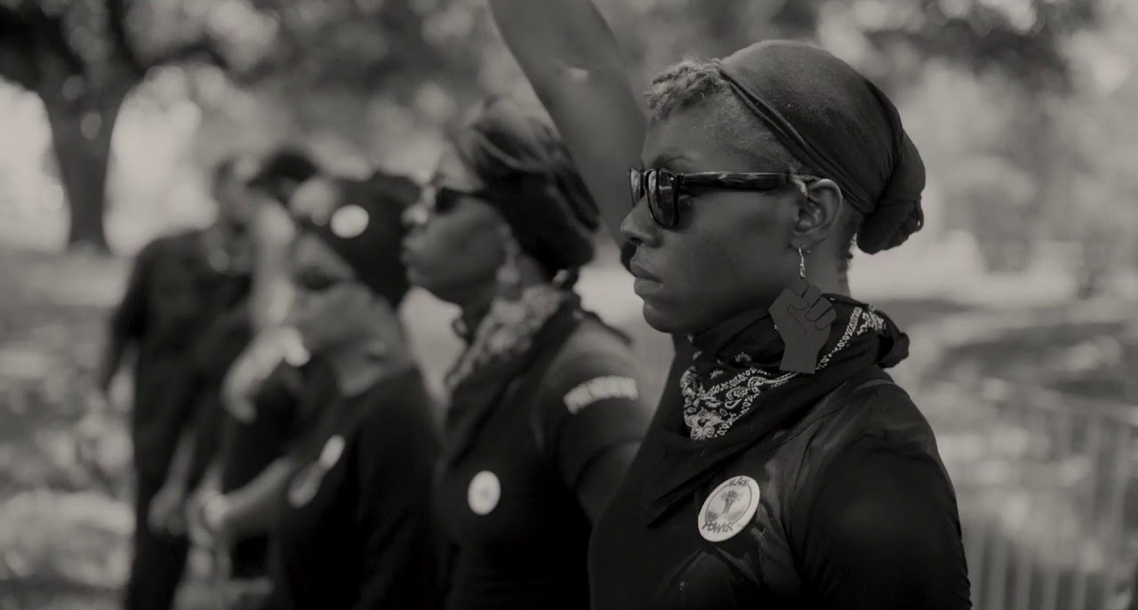 Another shot of the New Black Panther Party for Self-Defense.