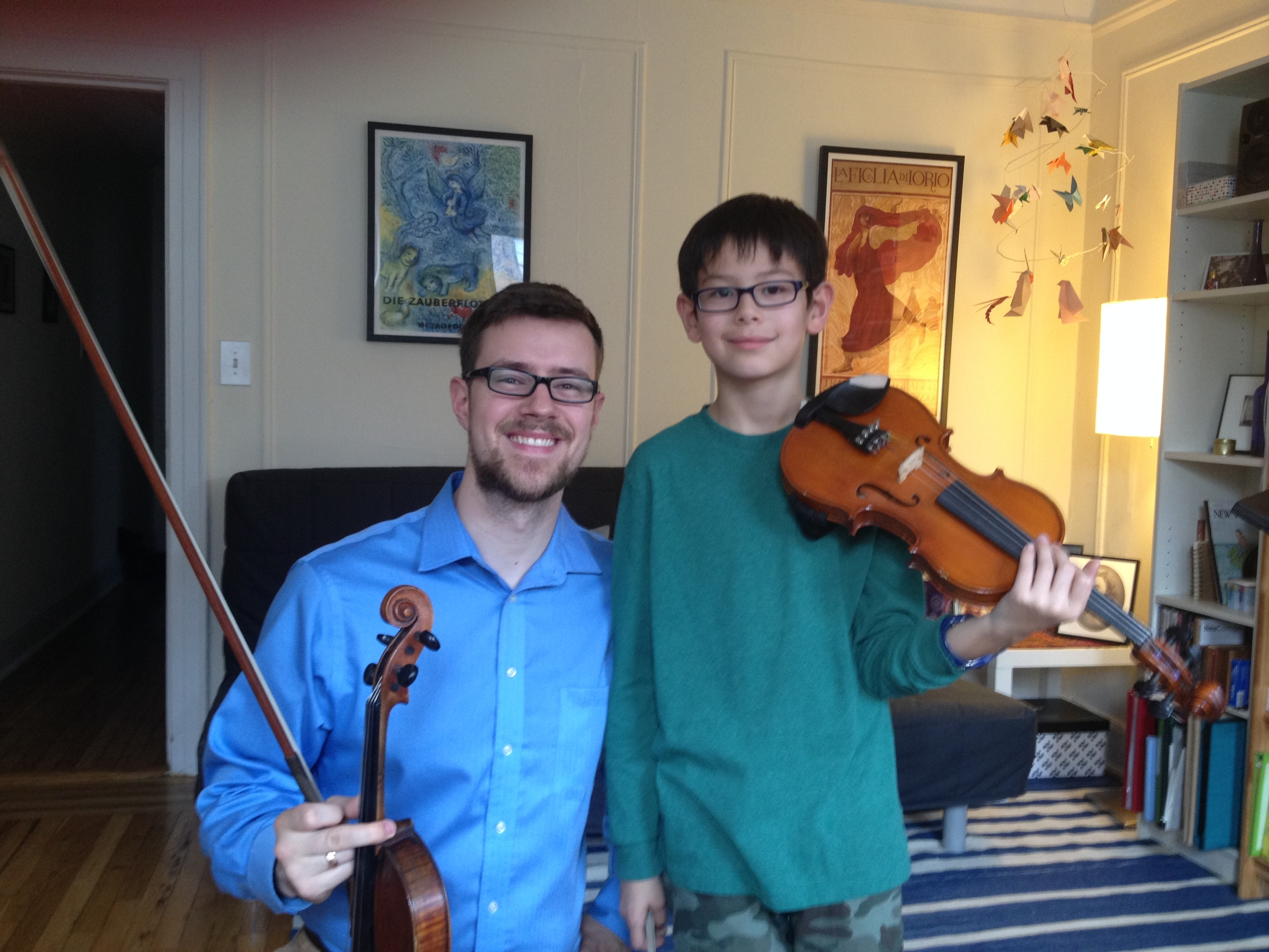 Queens violin teacher Nick Revel, offering viola and violin lessons in Sunnyside, Queens