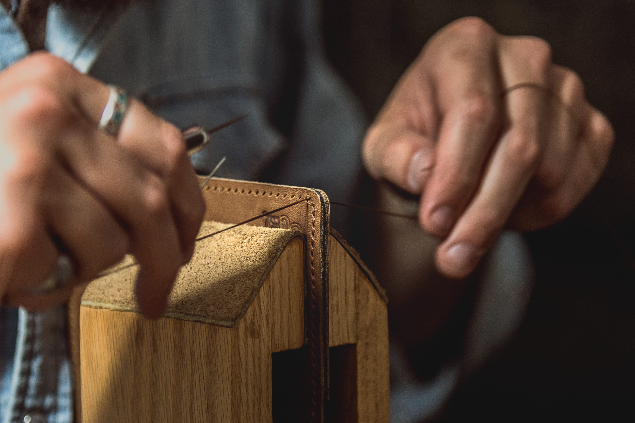 The Process - Saddle Stitching