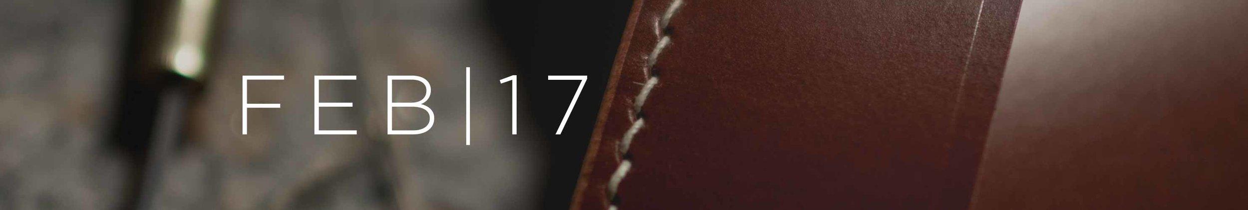 Lockeland Leatherworks February Journal Header