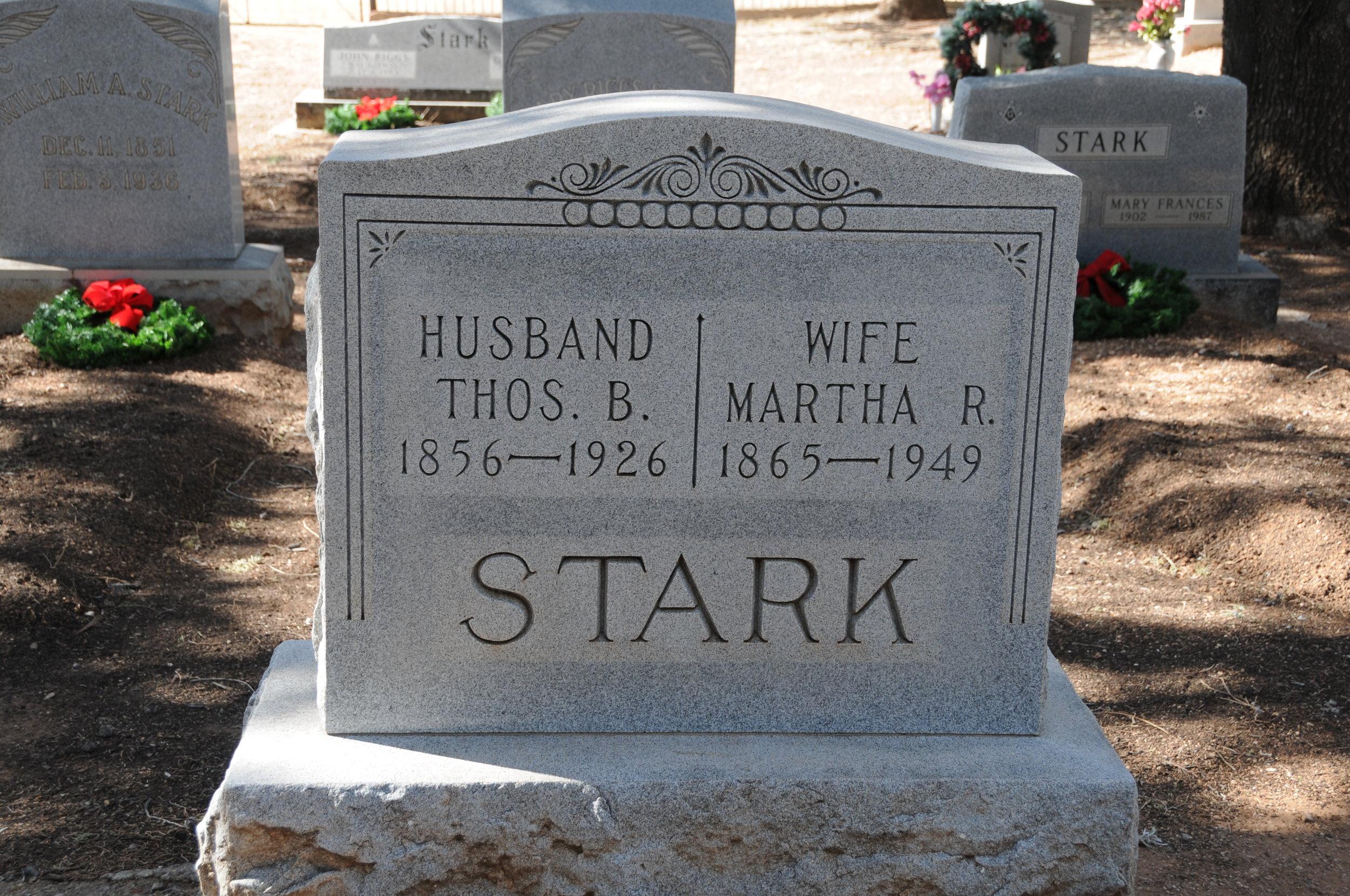 2i MARTHA (RIGGS) & THOMAS BELL STARK