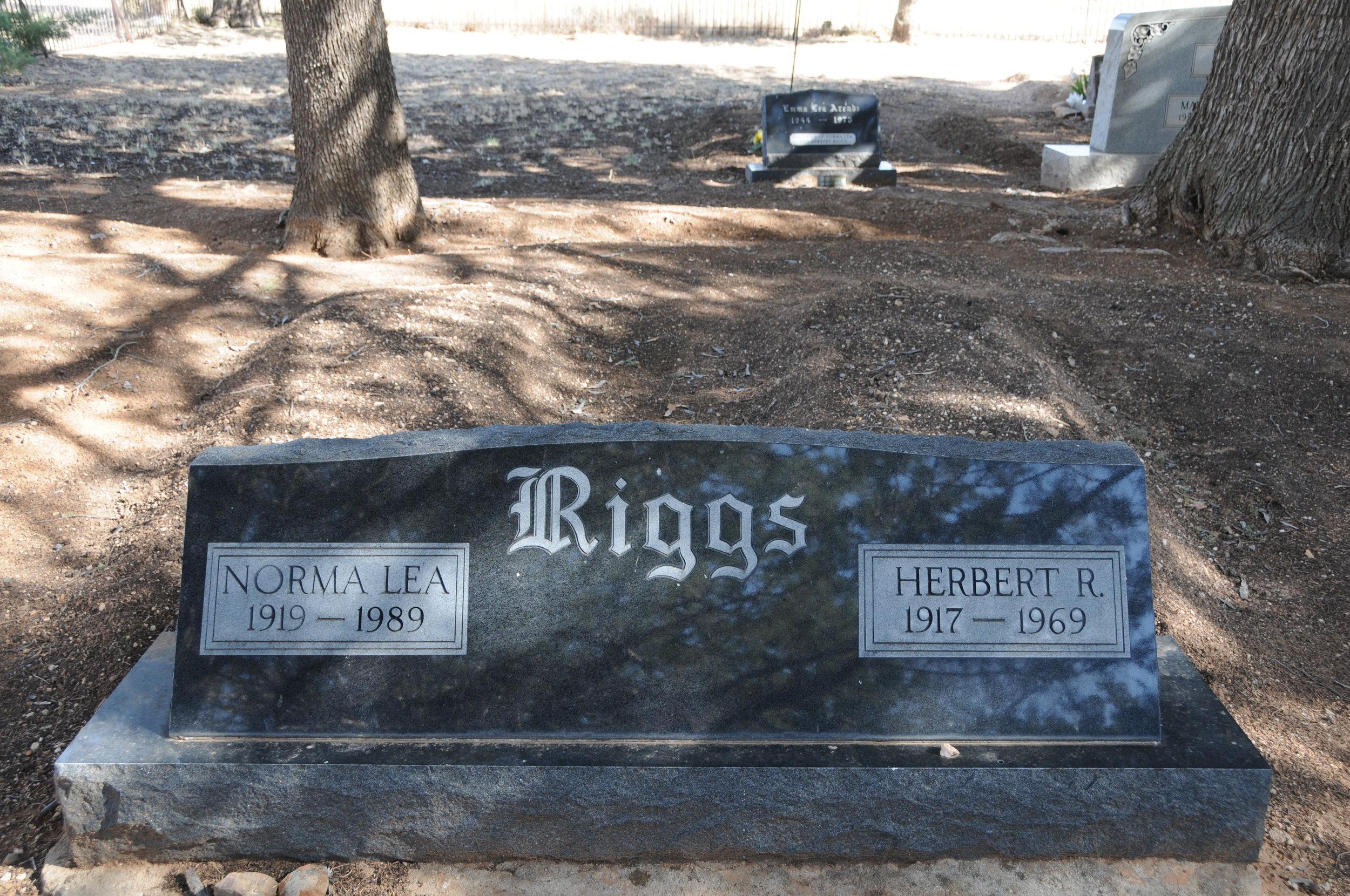 3c HERBERT & NORMA LEA (STUERMER) RIGGS