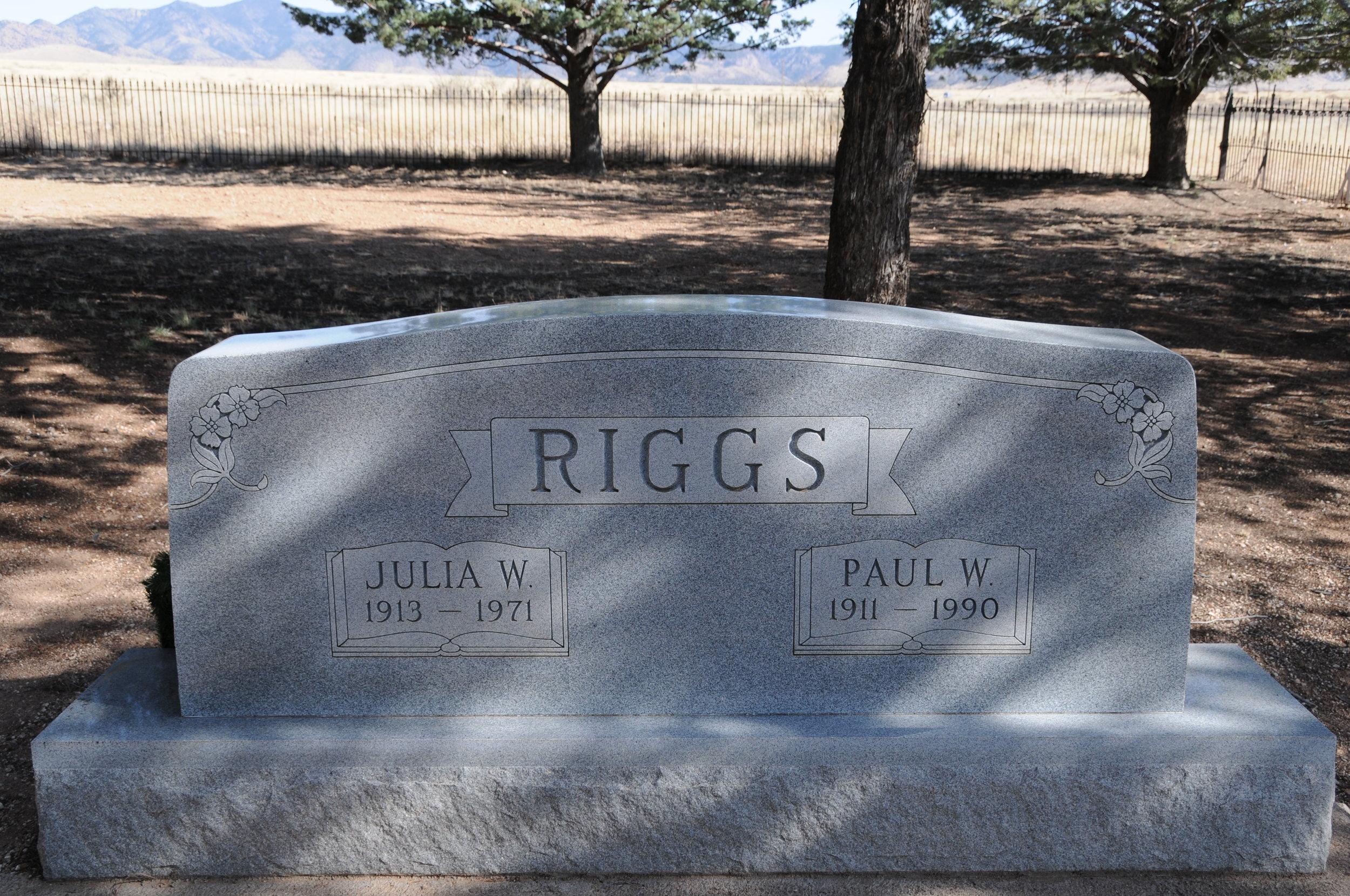 3k PAUL W. & JULIA (WARREN) RIGGS