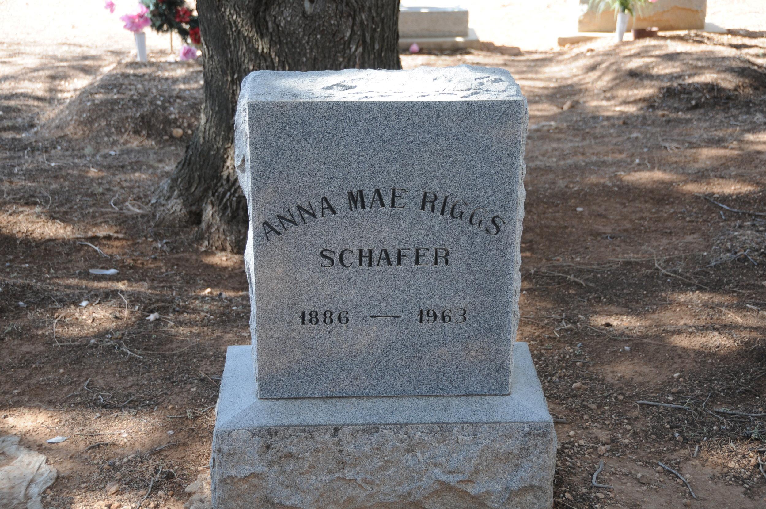 4g ANNA MAE (RIGGS) SCHAFER