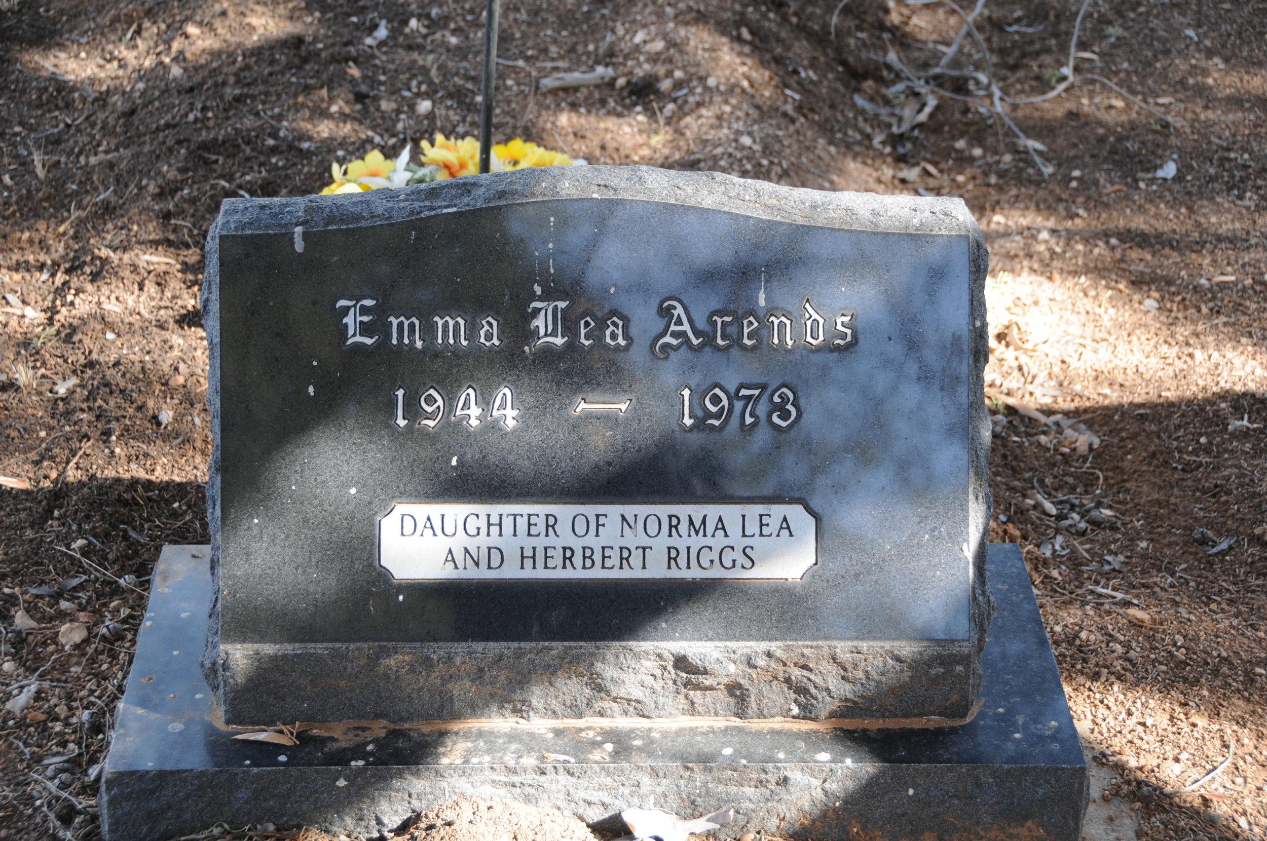 5a EMMA LEA (RIGGS) ARENDS
