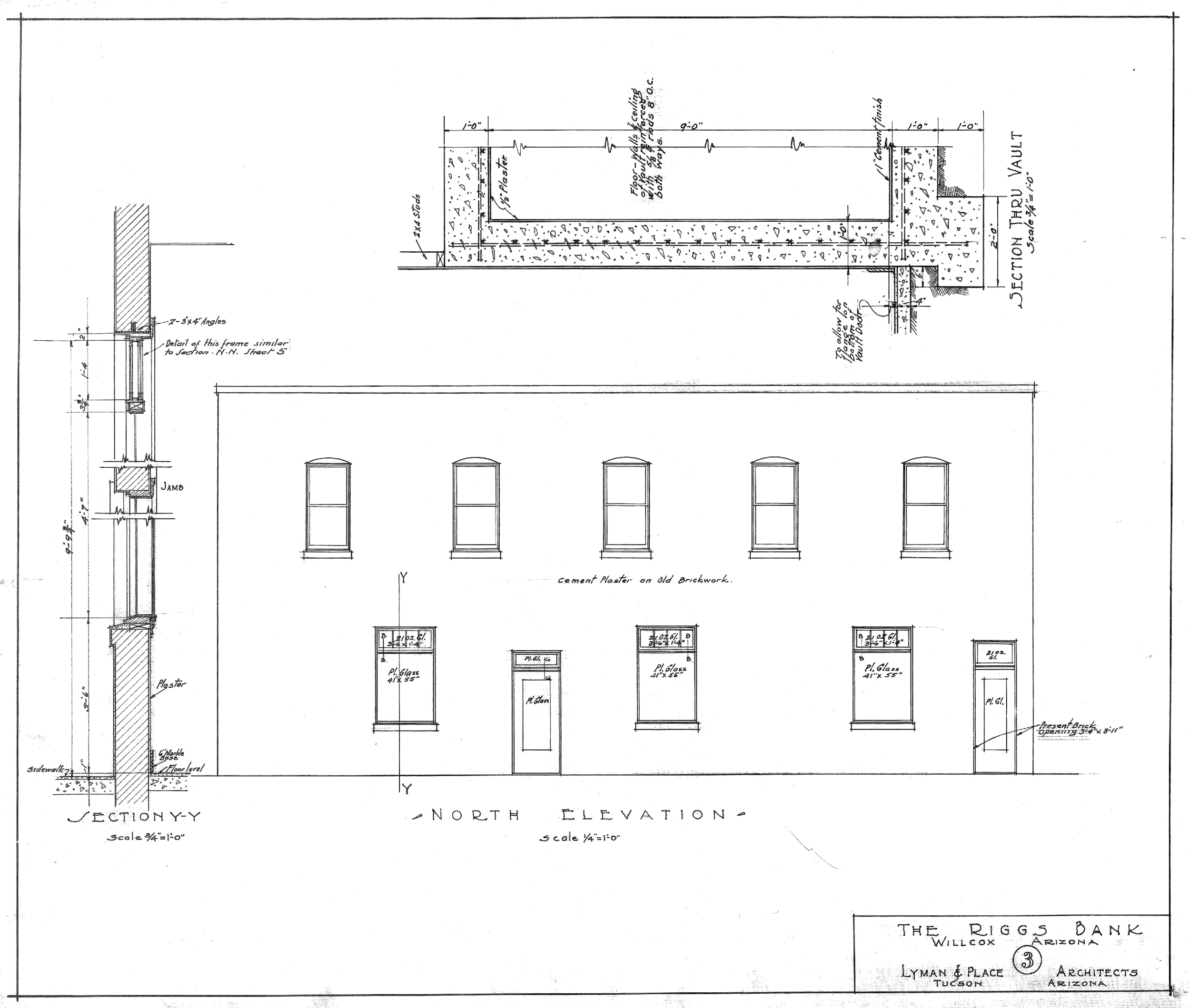 RIGGS BANK BUILDING DRAWING OF THE HASKELL AVENUE ELEVATION