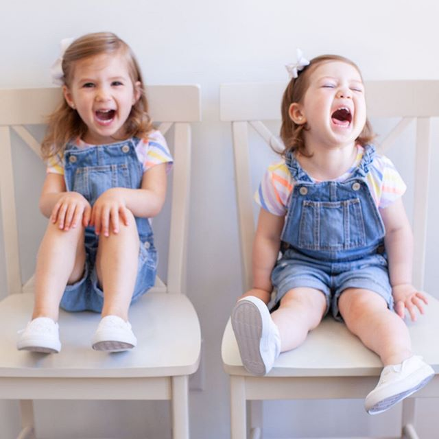"""Sisters. Never had one. Luckiest little girls on earth. What's so funny? Chandler: """"Elmo doesn't have a belly button."""" Dawson: """"Elmo have a butt."""" 😂🙈🤦🏻♀️😂👌🏻 Classic. If you missed our toddler curriculum, it's saved in my """"Toddler 3"""" highlights. If you have any questions, feel free to ask, I've gotten so so so many, and I'm always happy to share! I showed butterfly week, but we are on to Easter week today. I'm sparing all my non mamas from covering those thrilling activities, you're welcome. 😂 Our butterflies just started hatching today though, we are VERY excited, pictures in stories! As usual, tap once for item info. ⠀ ⠀ ⠀ ⠀ ⠀ ⠀ ⠀ ⠀ ⠀ ⠀ ⠀ #parentlife #parenthood #parenthood_moments #parentingblogger #parentingwin #toddlermommy #toddlermomlife #toddlermama #toddlermoments #toddlerclothing #toddlersofig #toddlerfun #toddlerstyle #toddleractivities #toddlerproblems #toddlerapproved #lifestylefashion #mommyblog #mommyof2 #mamalove #toddlerootd #toddlerhood #toddlergirl #toddlergram #momtrepreneur #mamas"""