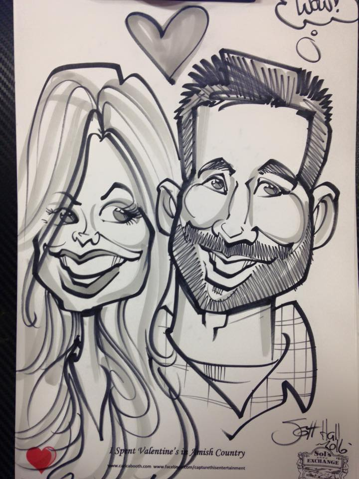 PACKAGE 1 - 4 Hour Reception  Features: 4 Hours of Caricature Entertainment that lasts a lifetime!