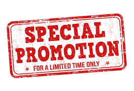 Click to view current specials & Promotions!