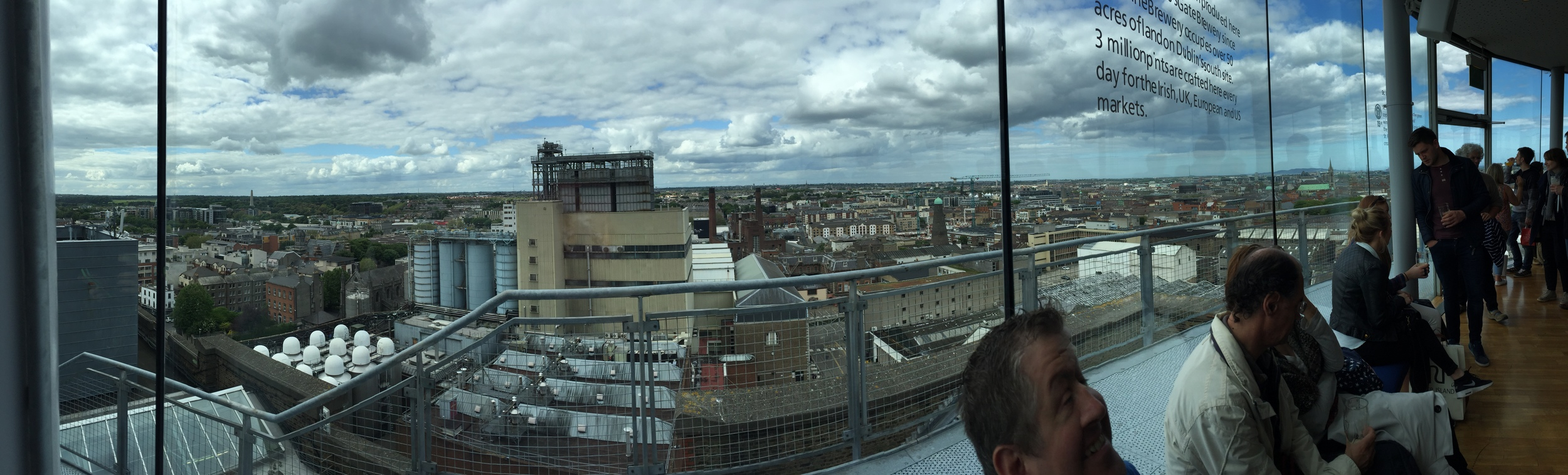 View Of Dublin From the Gravity Bar