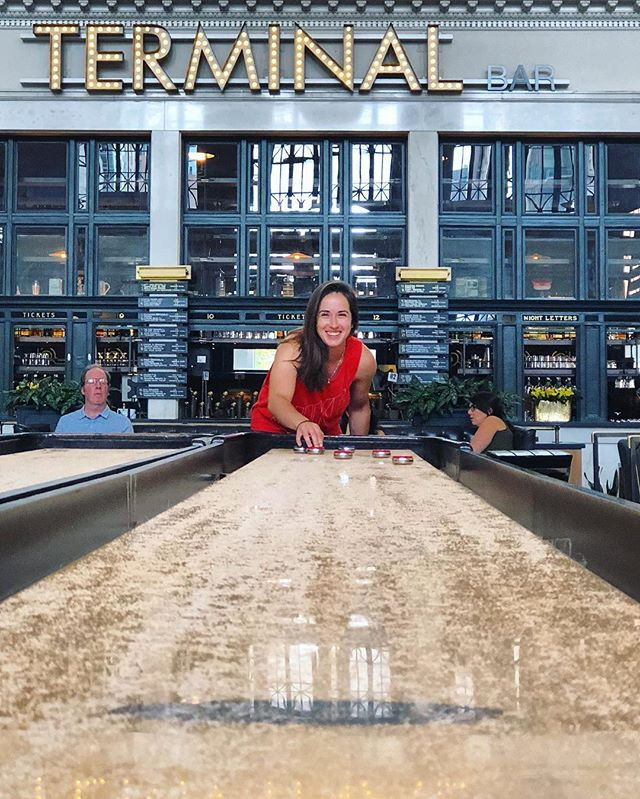 Don't let the smile deceive you, she'll destroy you at shuffleboard. Happy birthday @klwerling !!