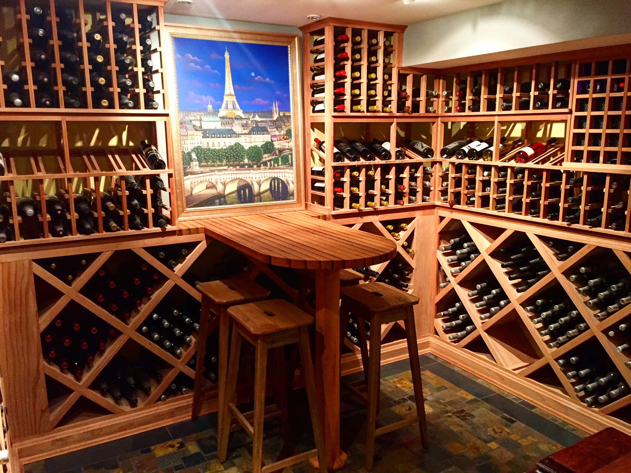 Everyone needs a wine cellar, right? Although not a necessity, the wine cellar in this house in NW Portland gave me major wine goals!