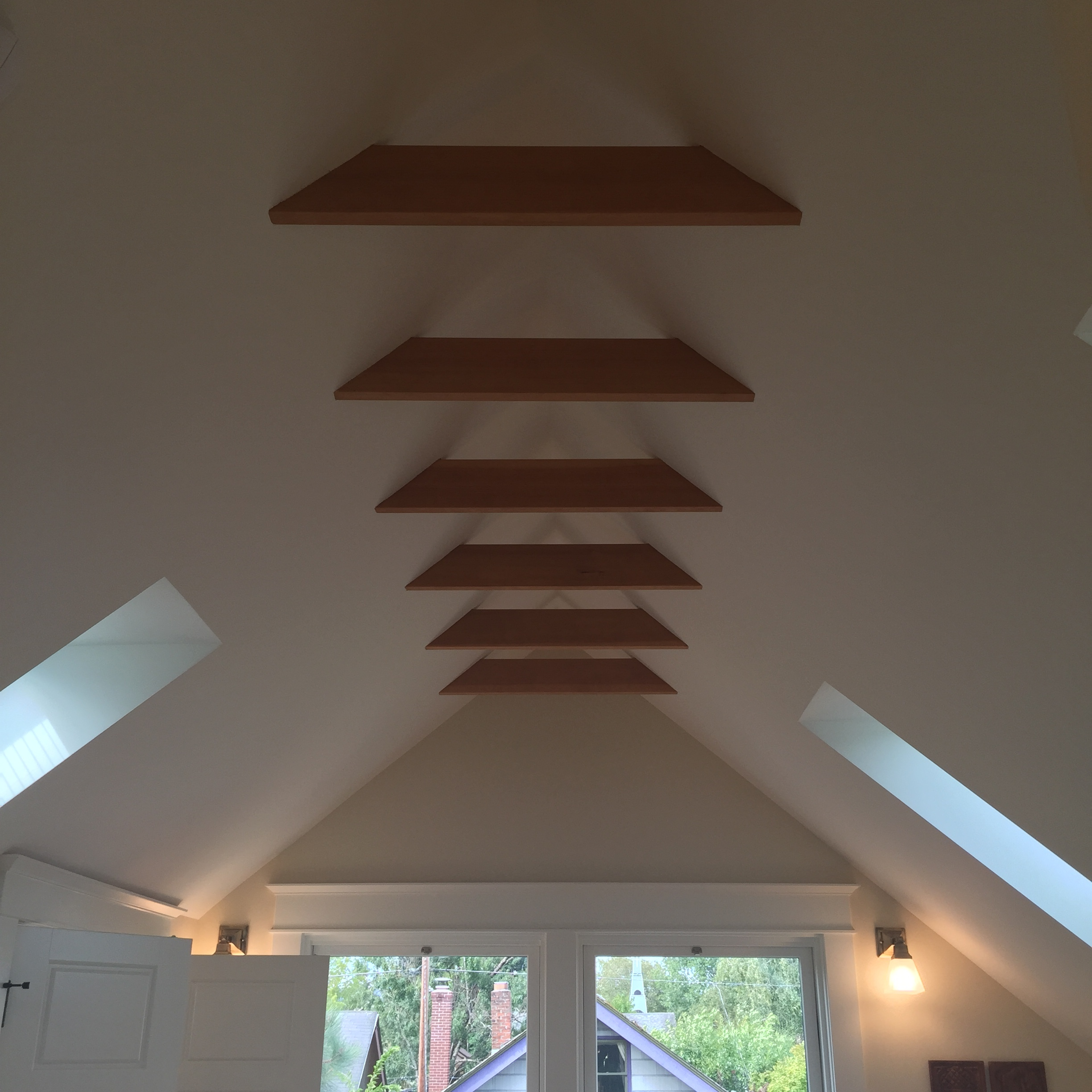 I died over the ceiling beams in this SE Portland home. They were subtle but they definitely made a statement.