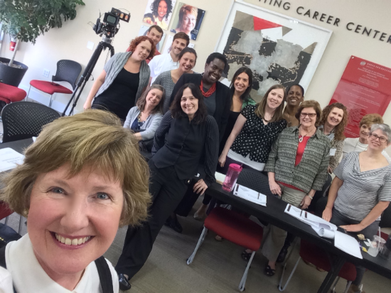 A workshop I attended to help brainstorm ideas for social media for Dress for Success.