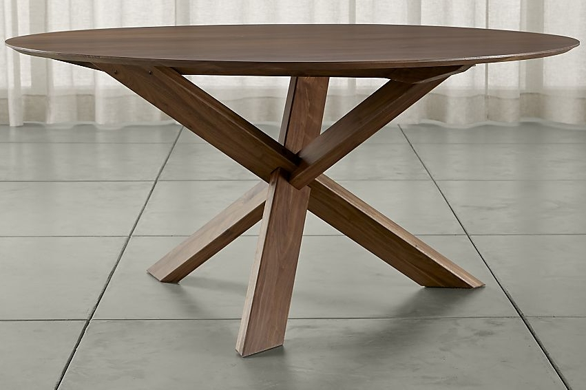 "Apex 64"" Round Dining Table - $2,499 - Crate&Barrel"