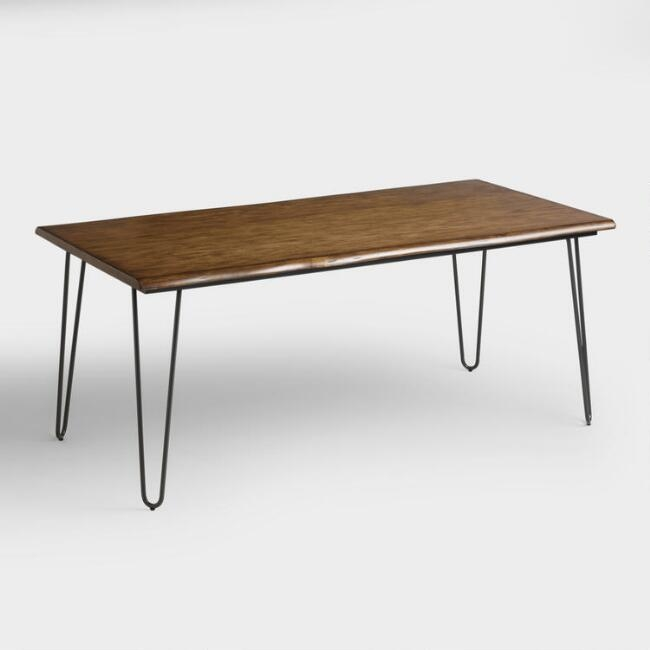 Wood Flynn Hairpin Dining Table - $549.99 - World Market