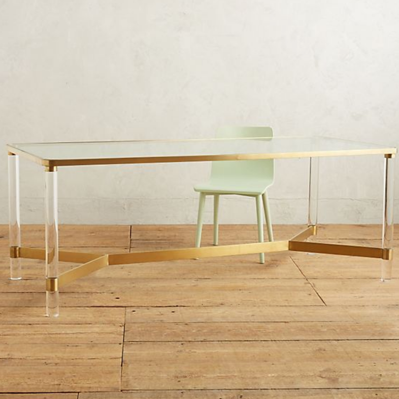 Oscarine Lucite Dining Table - $1,358.40 - Anthropologie