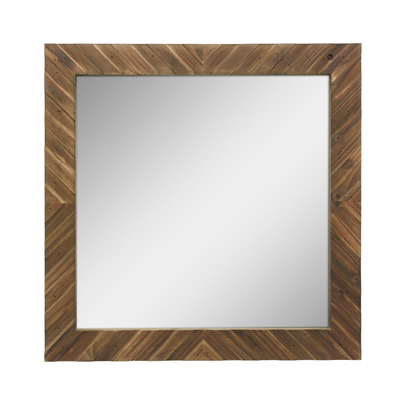 Wood Chevron Mirror - $49.28