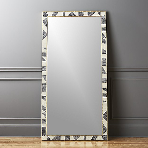 Grace Bone Inlay Floor Mirror - $699
