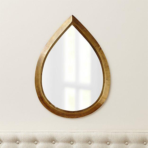 Kasbah Teardrop Brass Wall Mirrors, Set of 2 - $479