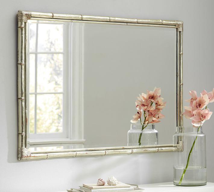 Bamboo Silver Gilt Wall Mirror - $239