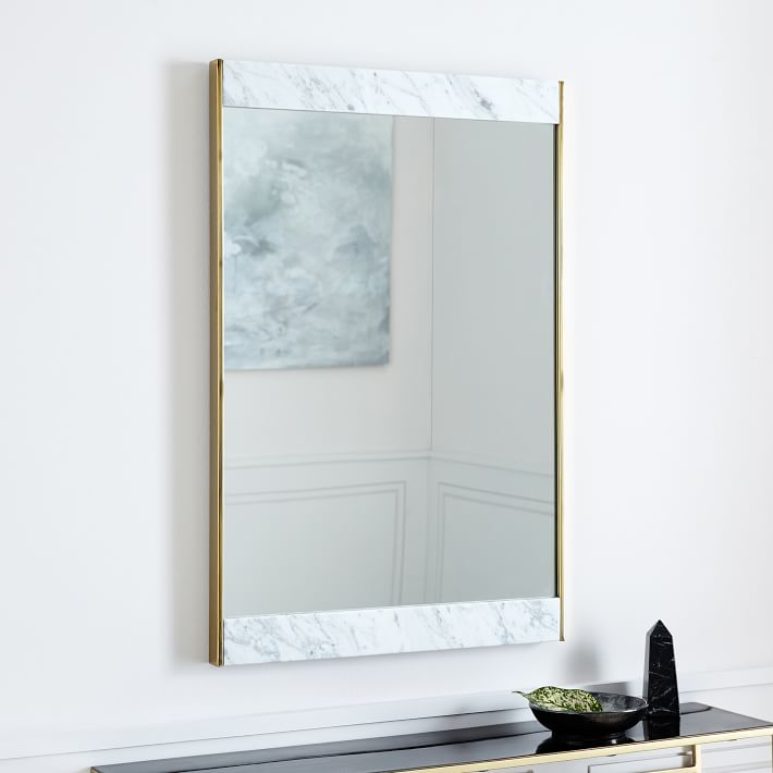 Marble + Brass Wall Mirror - $319