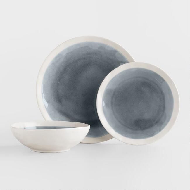 Gray Henley Dinnerware Set - World Market