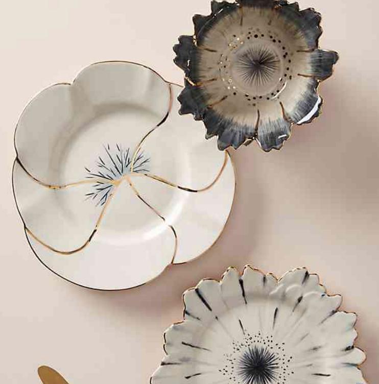 Papetal Floral Plate - Anthropologie