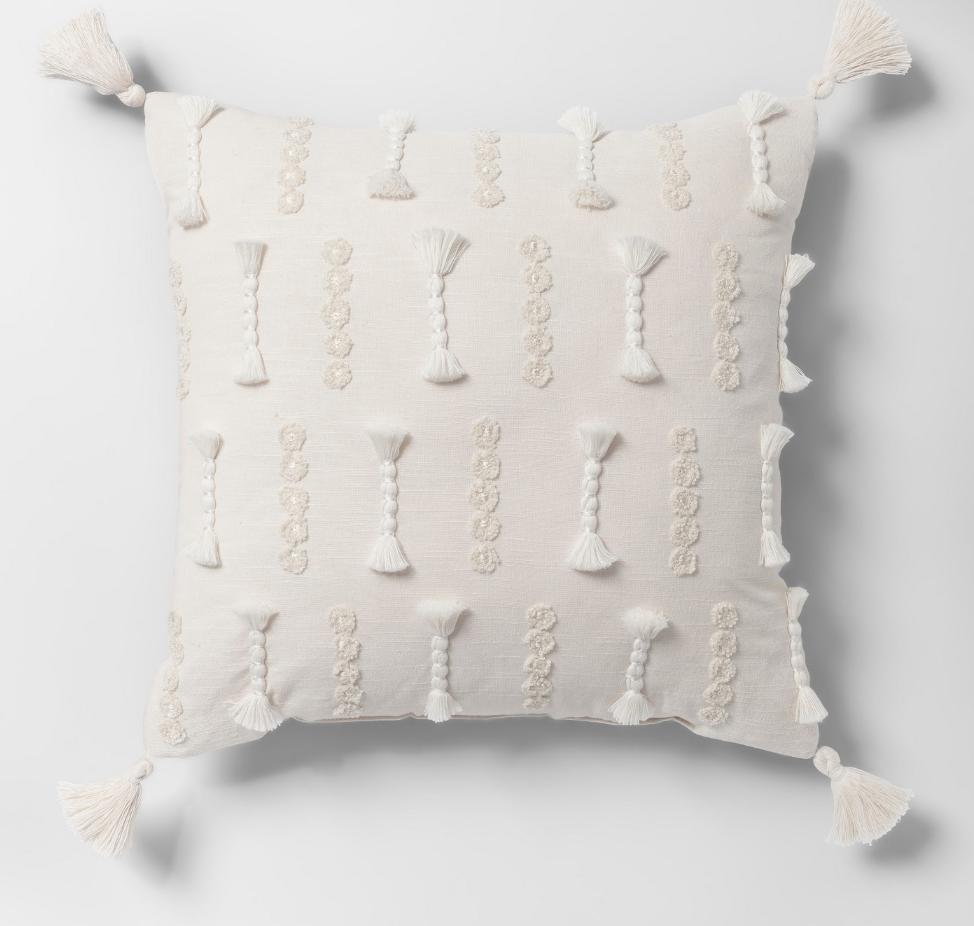 Yarn Applique Throw Pillow - $24.99