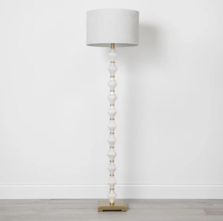 Glass Metal Stacked Floor Lamp - $79.99