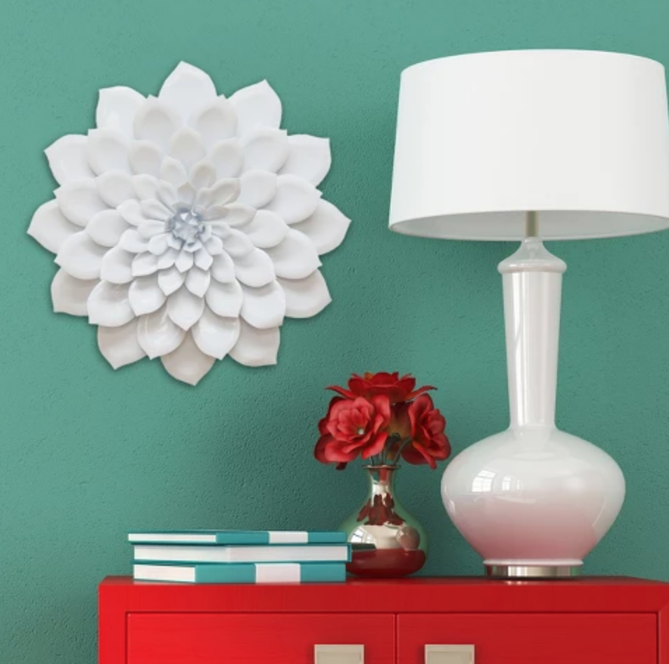 Layered White Flower Wall Decor - $74.99